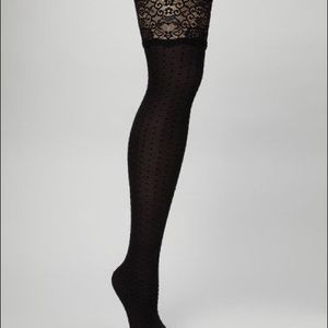 BETSEY JOHNSON MOCK THIGH HIGH TIGHTS BLACK M/L